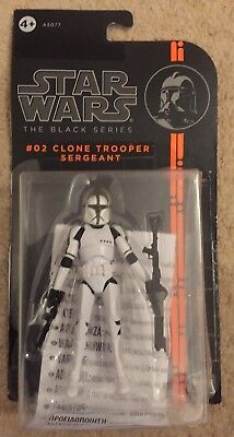 "Star Wars The Black Series 3.75/"" #02 CLONE TROOPER SERGENT Figure Par Hasbro"
