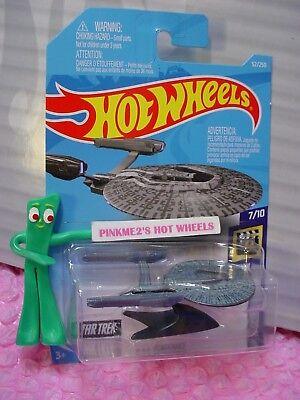2019 Hot Wheels ~C Case~Dark Grey~USS Vengeance~Star Trek Space Ship~Screen Time