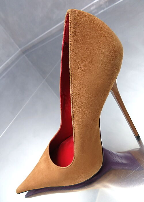 1969 Unique Color Real Leather MBDE IN ITBLY Sexy High Heels Pumps Z41 Leder 36