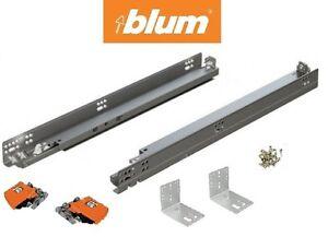 Kitchen cabinet soft close drawer slides - 563h Series Blum Tandem Drawer Slides With Blumotion Pair