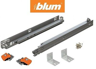 563H Series BLUM Tandem Drawer slides with BLUMOTION (pair) with locking devices