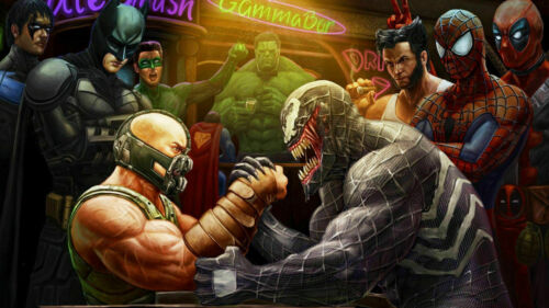 272562 Bane Vs Venom Arm Wrestle Giant PRINT GLOSSY POSTER US