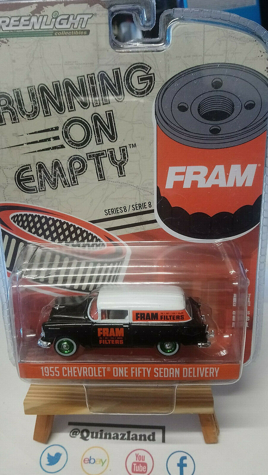 Greenlight running on empty 1955 chevrolet one fifty sedan delivery chase (n36)