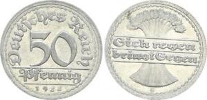 Inflationszeit 50 Pfennig 1922 G Last Digit IN Year IN Stamp Geänder 44677