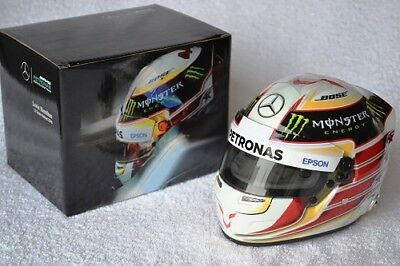 Acquista A Buon Mercato Lewis Hamilton 1:2 Scale Helmet Casque 2016 Mercedes New Neuf