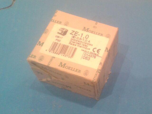 Motorschutz Relais Moeller ZE-1,0; 0,60-1,00A; 014376  Neu