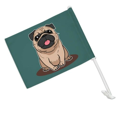 Motors Car & Truck Banners & Flags Pug Sticking Out Tongue