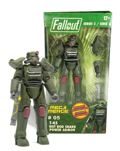 Fallout T-45 Hot Rod Shark Power Armor Mega Merge 4in Action Figure Series 2 NIB