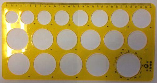 Grandes círculos Dibujo Plantilla Plantilla círculo de 19 26mm a 51mm de diámetro círculo KJ009