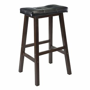 Surprising Details About Saddle Seat Stool 29 Wood Counter Bar Furniture Wooden Walnut Decor New Caraccident5 Cool Chair Designs And Ideas Caraccident5Info