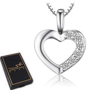 Herz-Kette-Halskette-925-Sterling-Silber-Damen-Swarovski-Kristalle-im-ETUI
