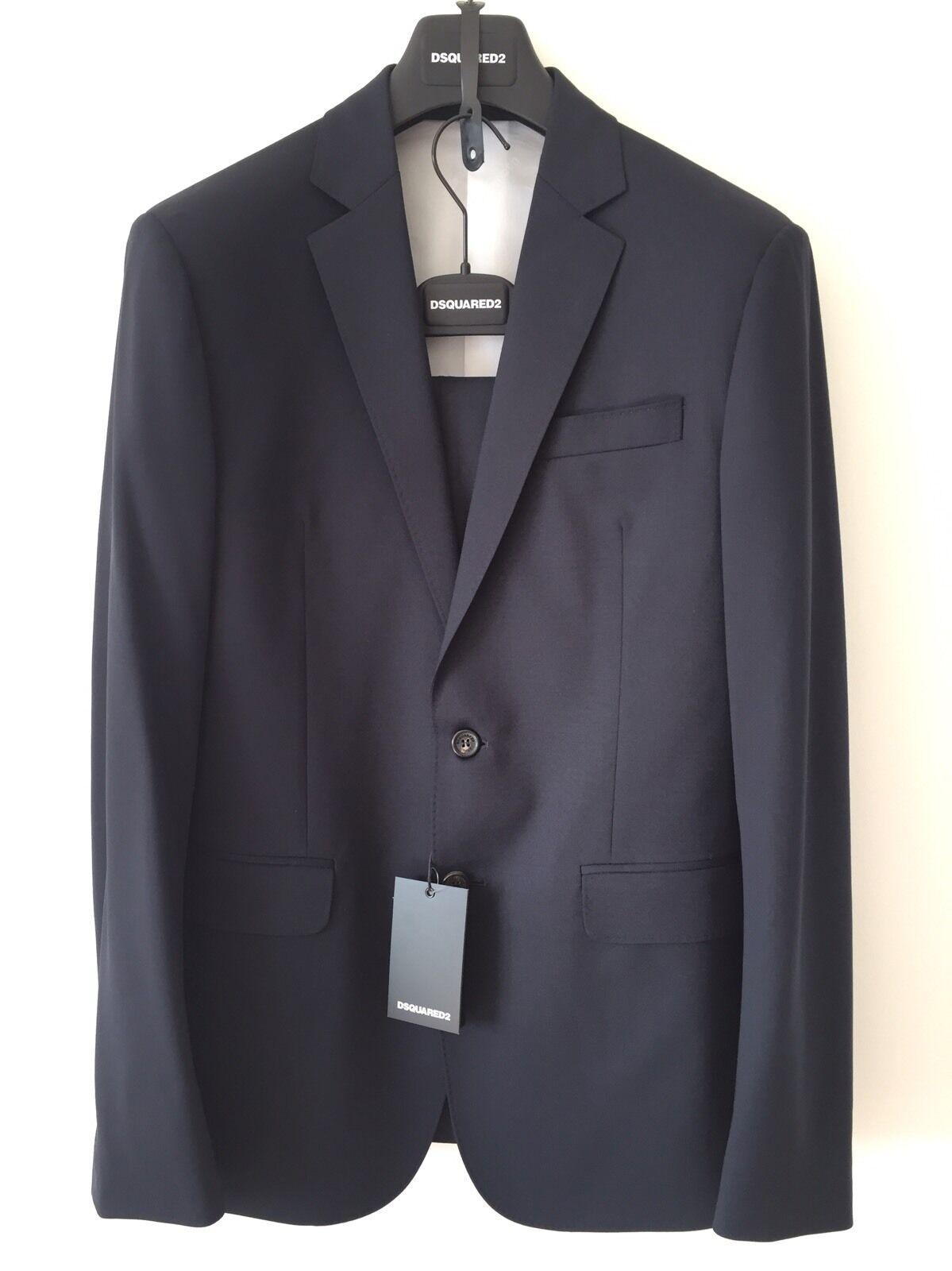 Dsquarot2 Dsquarot Paris Single-Breasted Suit - Navy - UK 42 IT 52   New