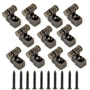 10-Pcs-Roller-String-Retainer-Trees-Guides-Body-Custom-For-Guitar-Parts-Black