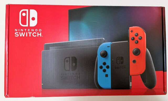 Nintendo Switch Console w/ Red and Neon Blue Joy Cons 32GB