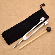 Aluminum Medical Tuning Fork Chakra Hammer Ball Diagnostic 128HZ Set