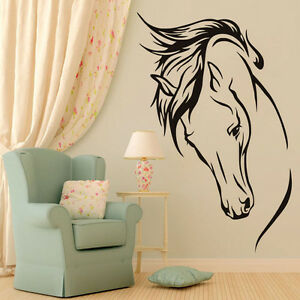 Image Is Loading Horse Head Wall Decal Horse Vinyl Wall Stickers