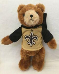 "NEW ORLEANS SAINTS football TEDDY BEAR stuffed animal plush 8/"" NFL Hoodie"