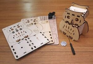 DIY Owl Musical Box, Wooden Project Activity Owl Collection
