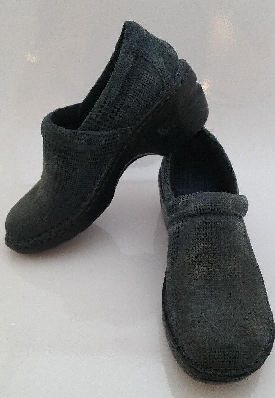Boc Born Concept Womens 7   38 Margaret Navy Twinkle Metallic Suede Clogs shoes