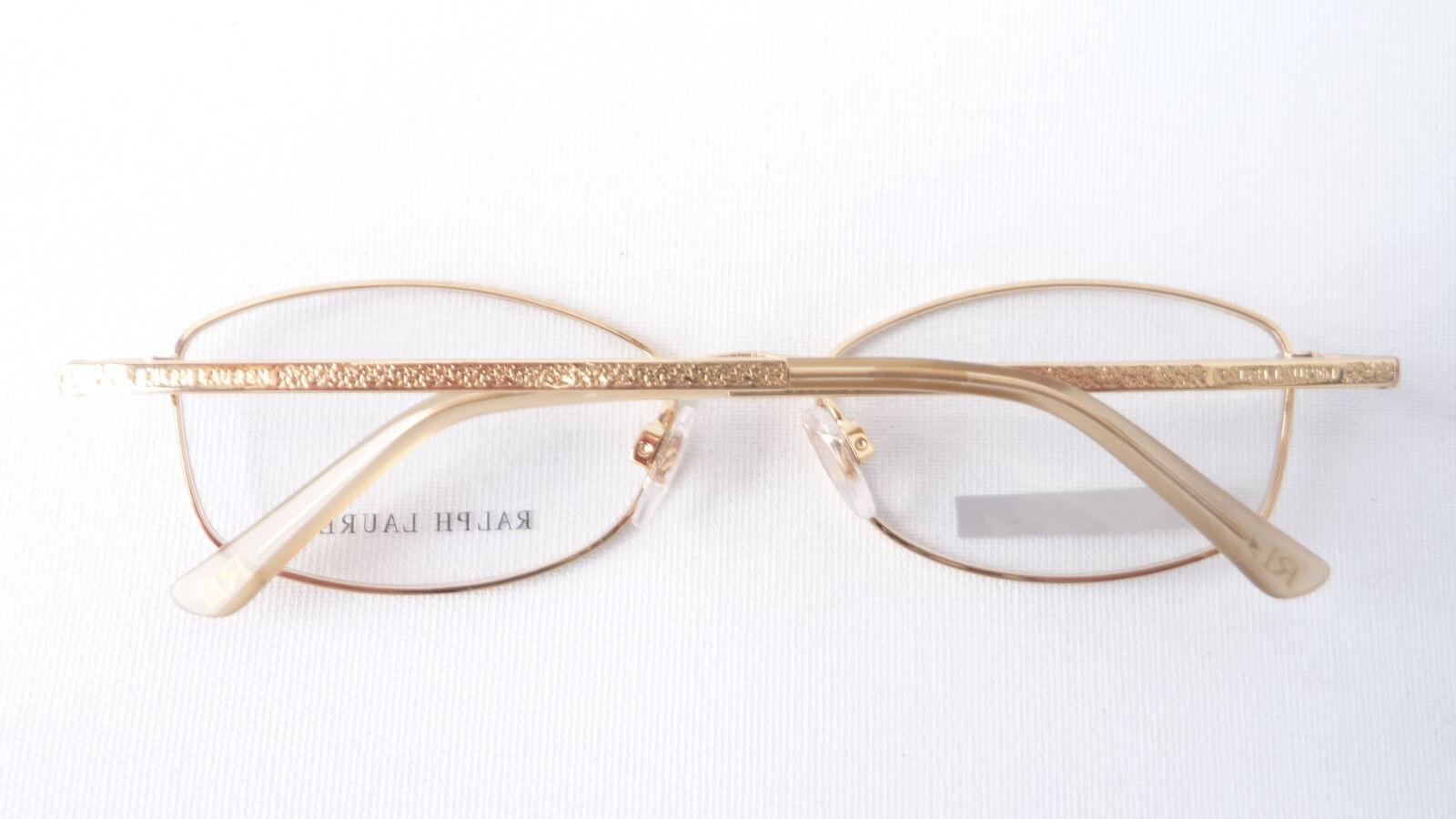 Designer Gestell Luxus Brille Ralph Lauren Gold Metall Damen Damen Damen Brillenfassung Gr M | Der neueste Stil  | Qualität Produkt  | Niedriger Preis und gute Qualität  ef760a