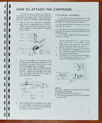 Kenwood KD-5070 Turntable Owners Manual