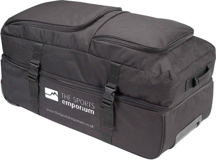 TSE TWIN Tour Wheely Bag Easy Roll Wheels Wheeled Cam Shell MASSIVE Capacity