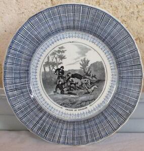 assiette parlante Vieillard Bordeaux chasse sanglier HUKQuALd-09103226-188325757