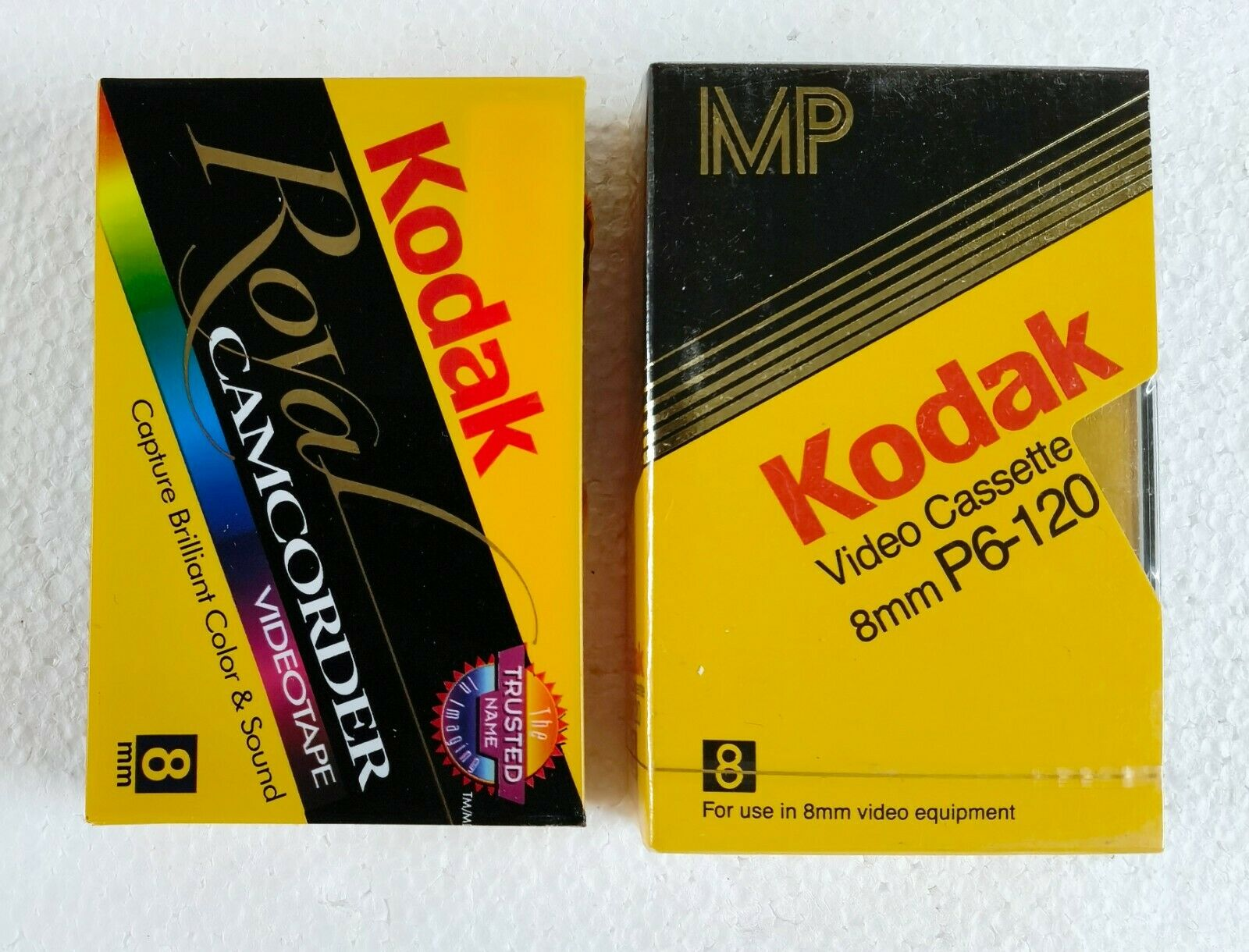 2 Pack Of KODAK P6-120 8mm VIDEO CASSETTE - Made In Germany, Assembled In France