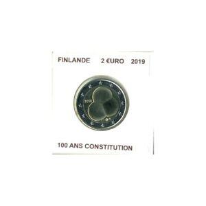 FINLANDE 2019 2 EURO 100 ANS CONSTITUTION SUP