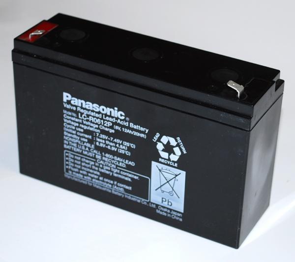 2 x Panasonic Blei Gel-Akku 6V 12Ah LC-R0612P USV