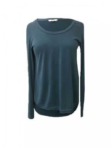 XS Sandwich Longsleeve Pullover Shirt Locker Hüftlang Petrol Gr M-XL Sweater