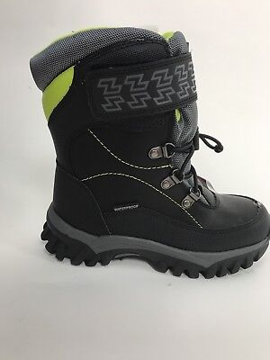 Cougar Boys Winter Boots SZ 1 M Black