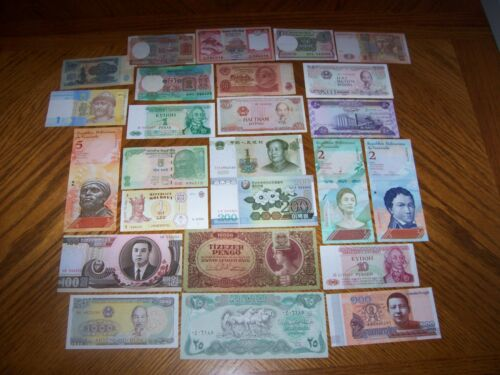 Lot of 25 Different Bank Notes from Various Countries CL4