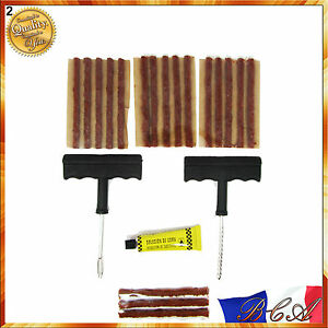 kit de reparation avec 15 m ches pour pneu tubeless voiture moto quad crevaison ebay. Black Bedroom Furniture Sets. Home Design Ideas