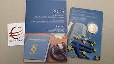 2 euro 2005 fdc folder ITALIA 1 Costituzione Europea Italie Italy Italien Италия