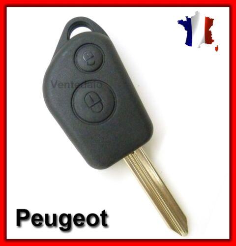 Coque Télécommande Plip Clé Bouton Boitier Pour Peugeot Partner Lame vierge