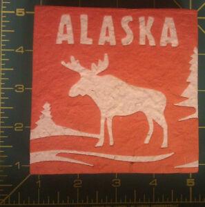 Alaska-Moose-Poo-Note-Pad-paper-Recycled-moose-poo-yes-real-Poop-orange