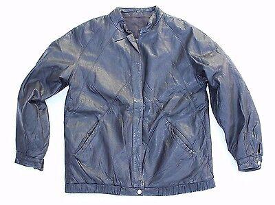 Aspirante Women's Vintage Bombardiere Harrington Nero 100% Reale Schiuma Cappotto Giacca Uk14 Uk16-mostra Il Titolo Originale Styling Aggiornato