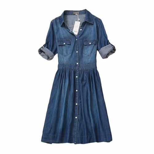 Jeans dress elegant spring slim cowboy casual Dresses