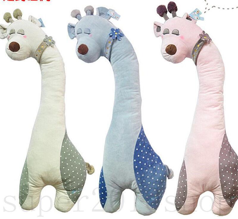 Giraffe Sleeping Deer Boyfriend Pillow Plush Toy Kids Doll Gifts 1.1 Meters