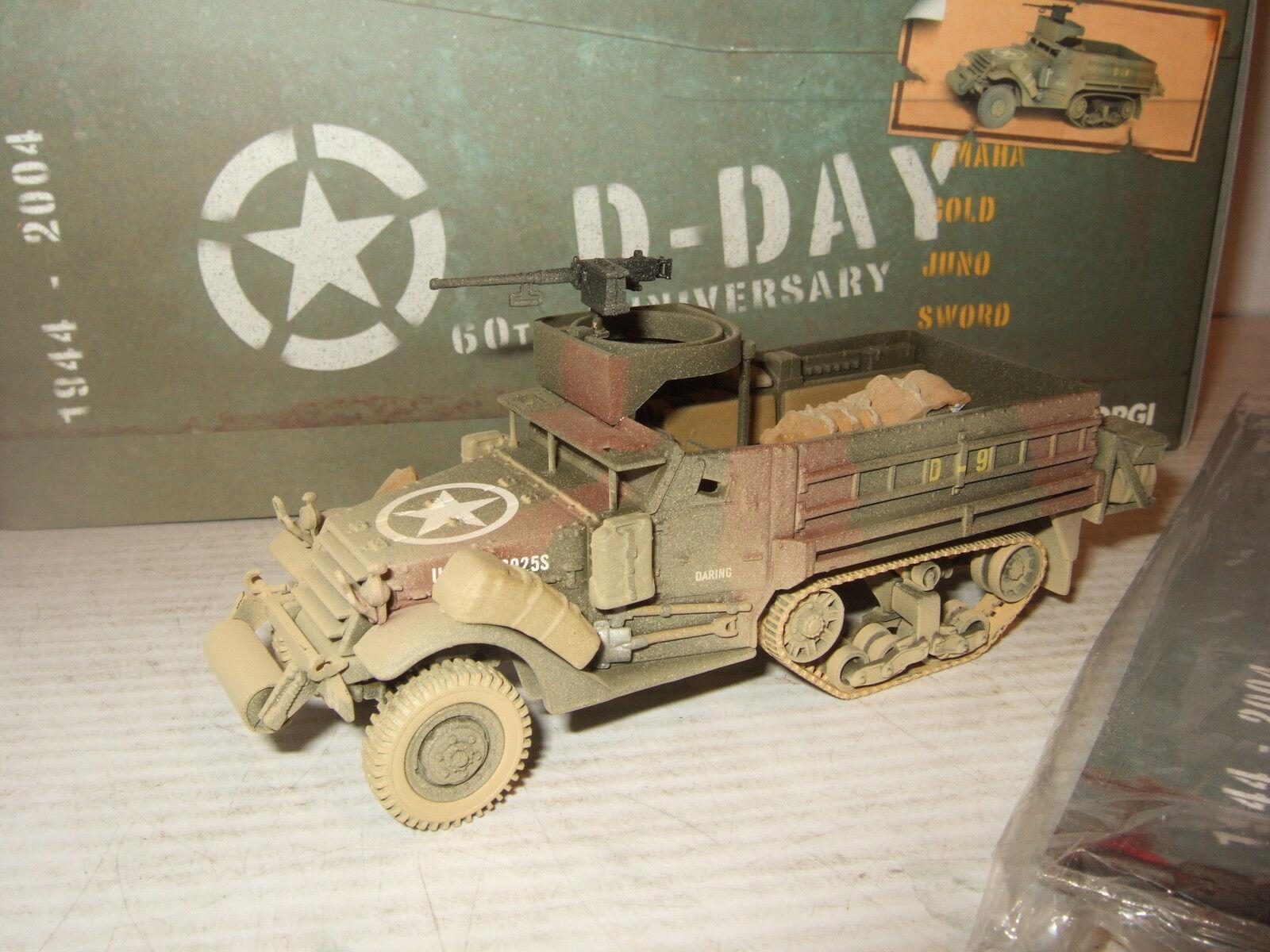 el estilo clásico Corgi US60401 US60401 US60401 M3 A1 de media pista, US Army, 41st Armd INF, Día D, Escala 1 50.  solo para ti