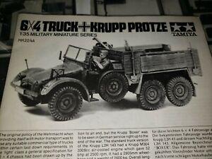 Vintage-Tamiya-6X4-German-Truck-Krupp-Protze-Model-Kit-1-35-2-Kits-No-Box-MM204A