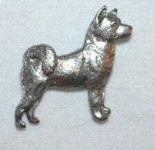 Akita Dog Fine Pewter Pin Jewelry Art Usa Made