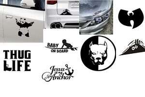 Window Stickers Decals Auto Home New Jesus Baby On Board Panda Thug