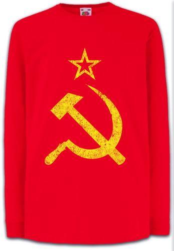 CCCP VINTAGE LOGO Kids Long Sleeve T-Shirt Soviet Union Russia UDSSR
