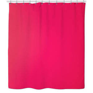 Image Is Loading PEVA Hot Pink Shower Curtain Liner W Magnets