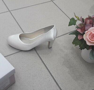 Brautschuhe GRACE NEU Rainbow Coloured Shoes Pumps Elegant breiter Absatz NEU   eBay