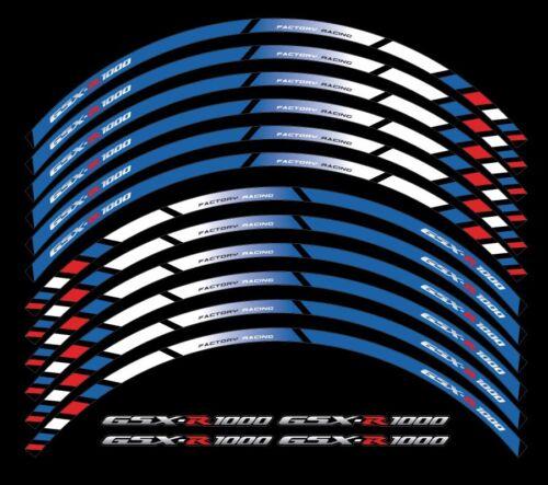 Suzuki GSX-R 1000 motorcycle wheel decals 12 rim stickers Laminated set gsxr