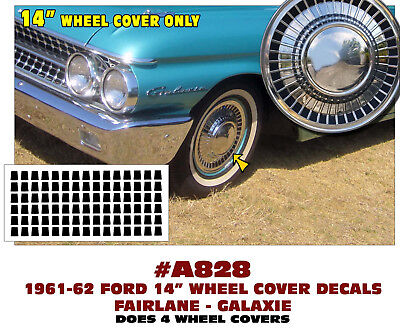 A728 1963 FORD FAIRLANE ROUNDED BACK STYLE TAIL LIGHT DECAL STICKER KIT