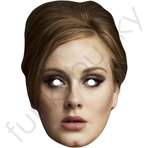 The Great Solo Singer Card Face Mask Adele All Masks Are Pre-Cut!